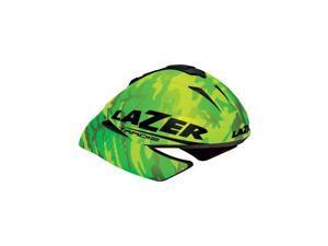 Lazer Tardiz Triathlon Helmet: Flash Green Camouflage MD