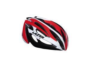 Lazer O2 Helmet: White and Red MD/LG Unisize