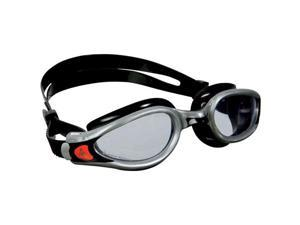 Aqua Sphere Kaiman EXO Goggles: Silver/Black with Clear Lens