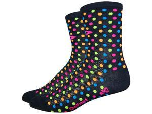 "DeFeet Aireator 4"" Spotty Sock: Black MD"