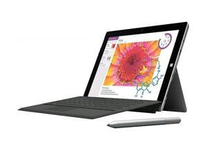 Microsoft Surface 3 10.8-Inch 128GB 10-point Multi- Touch Tablet (Silver / Black) with Black Keyboard, Surface Pen