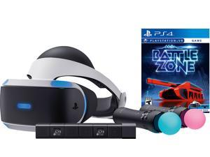 Sony PlayStation VR Battlezone Starter Bundle 4 items:VR Headset,Move Controller,PlayStation Camera Motion Sensor, PSVR Battlezone