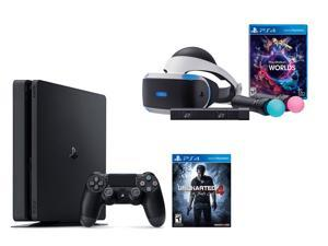 PlayStation VR Launch Bundle 2 Items: VR Launch Bundle, PlayStation 4 Slim 500GB Console - Uncharted 4