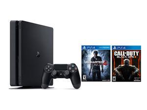 PlayStation 4 Slim 2 items Bundle: PlayStation 4 Slim 500GB Console - Uncharted 4 Bundle and Call of Duty Black OPS III