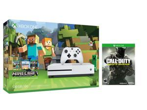 Xbox one S Console Bundle 2 items: Xbox One S 500GB Console-Minecraft bundle,Call of Duty:Infinite Warfare Game Disc