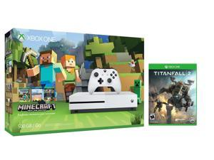 Xbox one S Console Bundle 2 items: Xbox One S 500GB Console - Minecraft Bundle,Titanfall 2 Game Disc