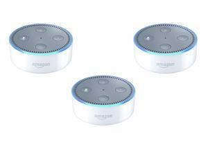 Set of 3 Echo Dot (2nd Generation) Hands-Free Speakers for Smart Homes , White
