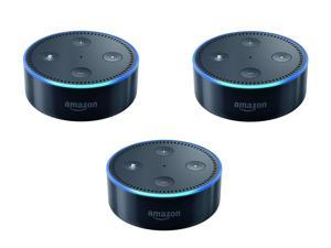 Set of 3 Echo Dot (2nd Generation) Hands-Free Speakers for Smart Homes , Black