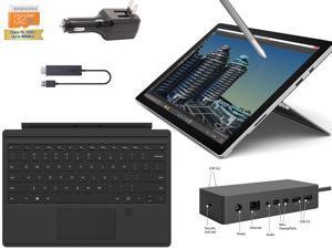 "Microsoft Surface Pro 4 Core i5-6300U 4G 128GB 12.3"" touch screen w/ 2736x1824 3K 3:2 QHD Windows 10 Pro (Black Cover Fingerprinter ID, Dock, Wireless Display Bundle)"