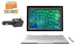"""2015 Tablet of the Year Microsoft Surface Book 2-in-1 Laptop 13.5"""" touch screen 3000x2000 3K 3:2 QHD Digitizer Pen Win 10 Pro  (256 GB SSD, 8 GB RAM, Intel i5, NVIDIA GeForce graphics)"""