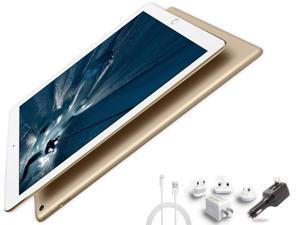 2015 Newest Apple iPad Pro 12.9-inch Tablet Multi-Touch Digitizer  2732 x 2048 QHD 3K Retina Screen Digitizer Penabled W/  Extra All-in-One Travel Charger (32GB, Wi-Fi, Gold)