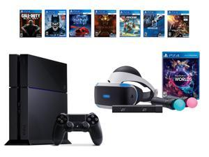 PlayStation VR Bundle 8 Items:VR Bundle,PS4 Call of Duty Black Ops III,6 VR Game Disc Until Dawn,Rush of Blood,EVE: Valkyrie, Battlezone,Batman:Arkham VR,  DriveClub,Battlezone