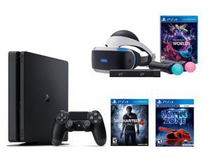 PlayStation VR Bundle - VR Bundle,PlayStation 4 Slim 500GB Console - Uncharted 4,VR Game Disc PSVR Battlezone