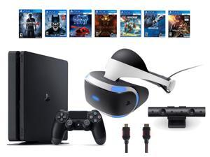 PlayStation VR  Bundle 9 Items:VR Headset,Playstation Camera,PS4 Slim- Uncharted 4,6 VR Game Disc Until Dawn:Rush of Blood, EVE:Valkyrie,Battlezone,Batman:Arkham VR, DriveClub,Battlezone