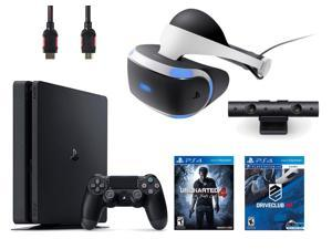 PlayStation VR Bundle (4 Items): PlayStation 4 Slim 500GB Console - Uncharted 4, VR Headset, Playstation Camera, PSVR Driveclub Game Disc