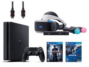 PlayStation VR Start Bundle 5 Items:VR Headset,Move Controller,PlayStation Camera Motion Sensor,PlayStation 4 Slim 500GB Console - U,VR Game Disc PSVR DriveClub