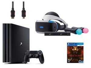 PlayStation VR Start Bundle 5 Items: VR Start Bundle,PS 4 Pro 1TB,VR game disc PSVR Until Dawn: Rush of Blood