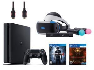 PlayStation VR Start Bundle 5 Items: VR Start Bundle,PS 4 Slim 500GB Console - Uncharted 4,VR game disc PSVR Until Dawn: Rush of Blood
