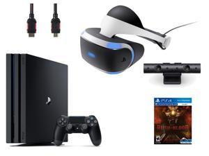 PlayStation VR  Bundle 4 Items:VR  Headset,Playstation Camera,PS4 Pro 1TB,VR game disc PSVR Until Dawn: Rush of Blood