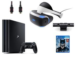 PlayStation VR  Bundle 4 Items:VR Headset,Playstation Camera,PlayStation 4 Pro 1TB,VR Game Disc Arkham VR