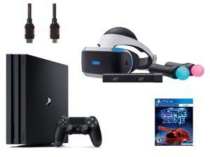 PlayStation VR Starter Bundle (5 Items): PlayStation 4 Pro 1TB Console, VR Headset, 2 Move Motion Controllers, PlayStation Camera, and PSVR Battlezone Game Disc