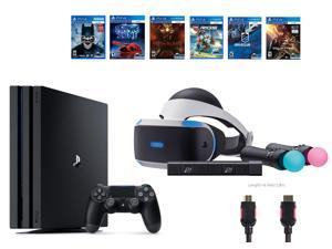 PlayStation VR Start Bundle 10 Items:VR Start Bundle PS4 Pro 1TB,6 VR Game Disc Until Dawn: Rush of Blood,EVE: Valkyrie, Battlezone,Batman: Arkham VR,DriveClub,Battlezone Battlezone
