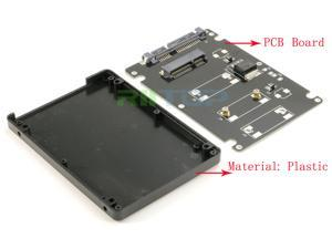 "Mini PCI-e mSATA SSD to 2.5"" SATA 3 7+15 pin Converter Adapter with 7 mm thickness Enclosure Case Plastic"