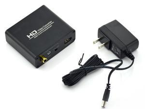 HDMI to DVI Converter With Digital S/PDIF Coax and Analog Stereo Coaxial Audio Video Output Supporting HDCP HDMI 1.3 For PS3 Xbox 360 FA Blu-ray DVD 1080P Blue HD Video