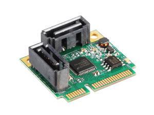 Mini PCIe PCI Express 2 Port SATA iii 3.0 6G Converter Adapter Controller Card ASM1061 Chipset