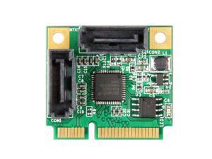 Mini PCI Express SATA 3 iii RAID Controller Card Converter Adapter 2-Port ASM1061R Support RAID0,RAID1,Span and AHCI NCQ