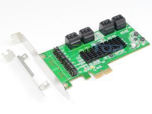 PCIe PCI Express SATA 3 iii Controller Card Adapter 8-Port SATA 6Gb NCQ FIS w/Low Profile Bracket