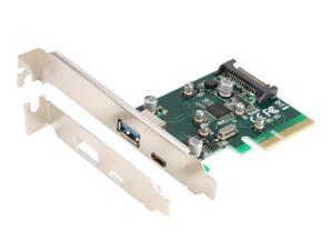 PCI-E Express x4 USB 3.1 Type-C & USB 3.0 Type-A Controller Adapter Card Chipset ASM1142