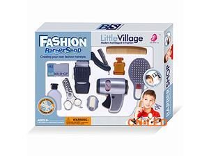 Play accessories barber shop Salon Hairstyle pretend cutting hair play set kit for Boy kids Gift B
