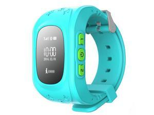 Kid Wrist GPS Tracker Real-time Positioning Tracker Watch SOS Blue Colour