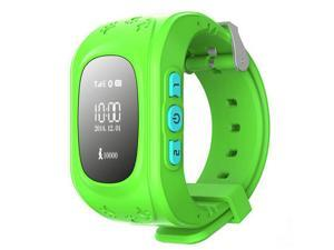 Kid Wrist GPS Tracker Real-time Positioning Tracker Watch SOS Green  Colour