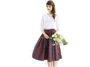 """Ladies over Knee Length Pride Of Scotland Kilt Skirt 28.5"""" Length Tartan Pleated"""