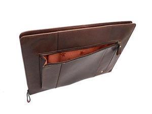 Visconti ML26 Hanz Buffalo Leather Zip Around Document Holder Folio Case (Brown)