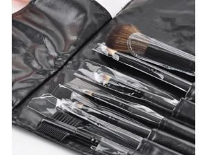Moonar HJ0051 9 pcs Durable Wood Holder Cosmetic Brushes Foundation Makeup Set With PU Leather Bag