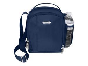 Travelon Adjustable RFID Blocking Boarding Bag, Steel Blue