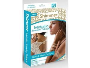 Shimmer Metallic Jewelry Tattoos Gold & Silver Designs Ages 8+ As Seen On TV