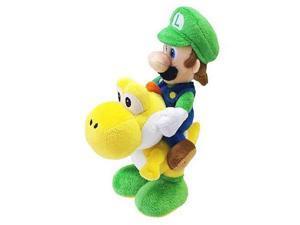 """Nintendo Official Super Mario Luigi Riding Yoshi Plush, 8"""""""