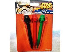 Star Wars 3-Pack Molded Crayons New NWT
