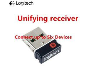 Genuine Tiny Unifying USB Receiver Dongle for Logitech Mouse and Keyboard Can Connect Up To Six (6) Devices w/ Unifying Logo