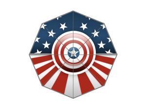 Pefect as Gift Umbrella New 2015 Superhero Captain America Printed 43.5 inch Wide Foldable Umbrella Anti Rain Durable Umbrella