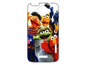 3D Print Hot Children's TV Show&Sesame Street Theme Case Cover for HTC One X- Personalized Hard Cell Phone Back Protective Case Shell-Perfect as gift