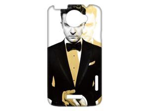 3D Print US Super Pop Star&Justin Timberlake Theme Case Cover for HTC One X- Personalized Hard Cell Phone Back Protective Case Shell-Perfect as gift