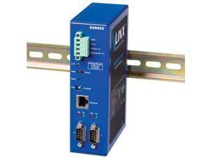 B&B 2 Port Ethernet Serial Server, DIN, Wide Temperature