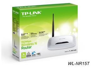 New TP-Link TL-WR740N Wireless N150 5dBi Antenna WPA/WPA2, IP QoS, WPS Button Router White