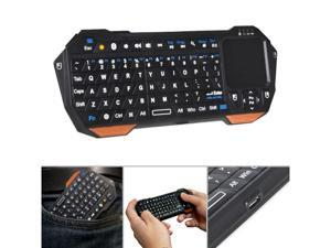 Compact Design Full QWERTY Keyboard Wireless Mini Portable 10m Remote Bluetooth Keyboard with Multi-Touch Pad Mouse Indicator Light NEW