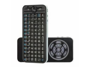 RF 4 in 1 iPazzPort 2.4GHz Mini Wireless Fly Air Mouse Keyboard with IR Remote Black NEW